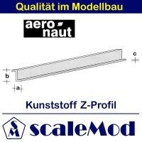 Aeronaut (7724/82) Kunststoff (ASA) Z-Profil  VE 5 Stk...