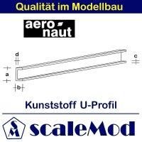Aeronaut (7724/02) Kunststoff (ASA) U-Profil  VE 5 Stk...