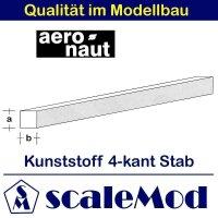 Aeronaut (7722/08) Kunststoff (ASA) quadrat. Stab  VE 5...