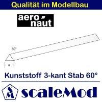 Aeronaut (7726/84) Kunststoff (ASA) 3-kant Stab 60 Grad...