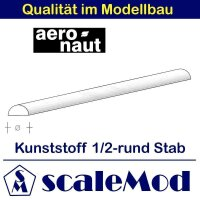 Aeronaut (7726/25) Kunststoff (ASA) Halbrundstab VE 1 Stk...