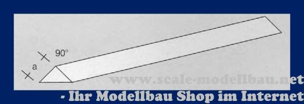 Aeronaut (7726/92) Kunststoff (ASA) 3-kant Stab 90 Grad VE 1 Stk 1000mm / 2,0 mm