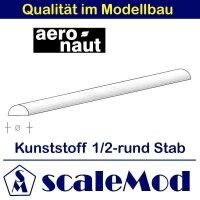 Aeronaut (7726/24) Kunststoff (ASA) Halbrundstab VE 1 Stk...