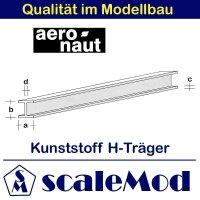 Aeronaut (7729/44) Kunststoff (ASA) H-Profil 1000 mm /...