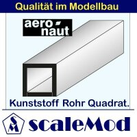 Aeronaut (7719/63) Kunststoff (ASA) Rohre  Quadrat 330mm...