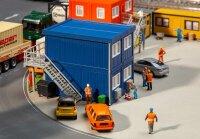 4 Baucontainer, blau