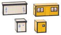 4 Baucontainer, gelb-schwarz