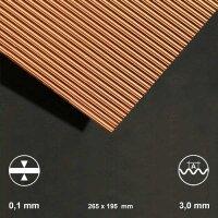 Kupfer-Wellblech, Welle 3,0 mm