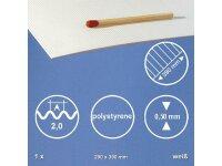 Polystyrene Wellplatte Weiss 29,0x39,0 cm 2,0mm