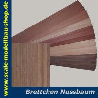 Brettchen NUSSBAUM 500x80 mm Stärke 5.0 mm